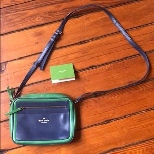 Kate Spade crossbody in preppy blue and green